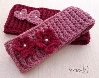 CROCHET PATTERN - Mommy ear warmer crochet pattern - Headband crochet pattern - Pattern No. 242