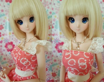 Soft, Silky, Synthetic Wigs for Smart doll, Dollfie Dream, SD BJD 1/3 or 1/4 22-24cm head
