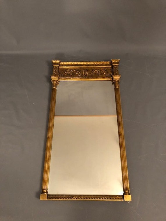 Antique Victorian Italian Wall Mirror with real gold leaf