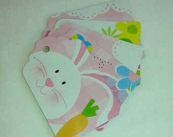 Easter / Easter Bunny / Happy Easter / Easter Egg / Spring Flowers / Gift Tags / Set of 5 Gift Tags