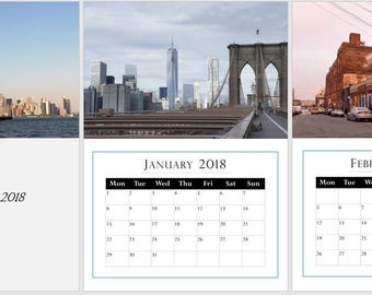 NY, New York Photography 2018, A3 Wall Calendar, start any month, Buy 2 for 19.99!