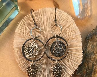 Sterling Silver Protection Talisman Earrings