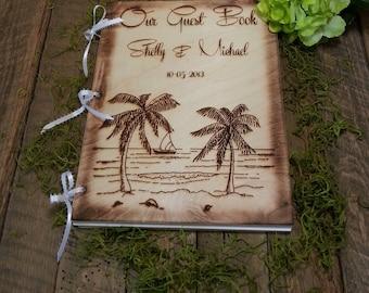 Guest Book, Guest Books, Wedding Guest Book,Beach Wedding, Wedding Guest Books, Personalized Wedding Guest Book, Personalized Album
