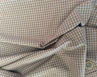 Cotton plaid fabric for shirts or blouses or lining of jacket