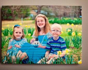 "Wood Photo (7.5""x10"") Personalized"