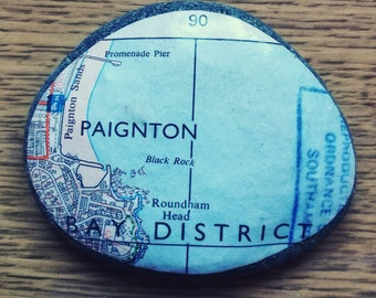 Map paperweight, Paignton Devon