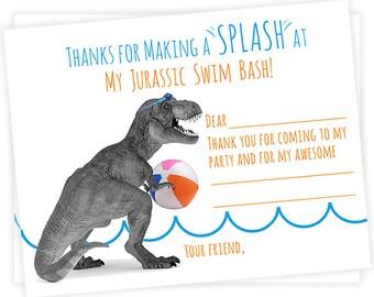 DRUCKBARE Dino schwimmen Partei Dankeschöns