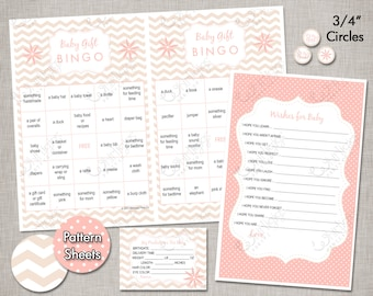 INSTANT DOWNLOAD Baby Shower Games - Blush Pink & Champagne