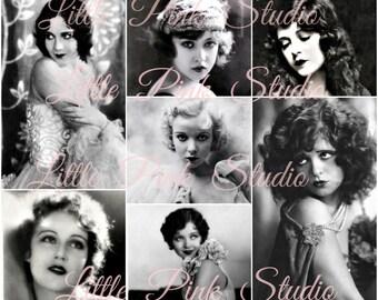 Glamour-Girls, druckbare Collage Sheet (digital Download, zum ausdrucken)