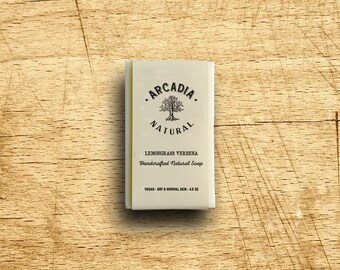Lemongrass Verbena Soap, Cold Process Soap, Moisturizing body soap, Natural Soap, Vegan Soap, Handcrafted Soap Bar