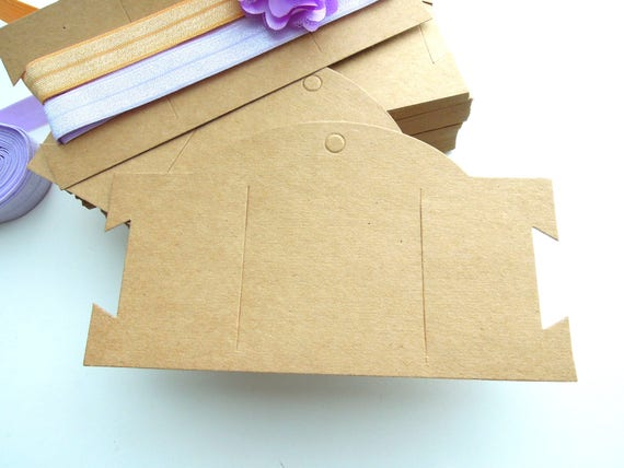 20 Blank hair clip display cards  Headband, Jewellery blank display cards Kraft cardstock display cards. UK Seller