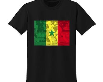 Russia World Cup 2018 Graphic Tshirt SENEGAL Flag Football Team Soccer Country