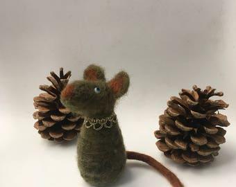 OOAK, Mouse,Feltpet, felt mouse, felted mice, needle felted mouse