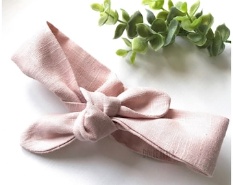 Head band for baby or little girl in linen color choice