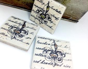 Louisiana inspired Magnets- Set of (3) fleur de lis