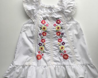 18M Folk Embroidered Girl's Top