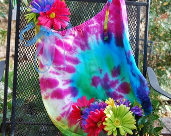 Tie dyed canvas shopping  bag