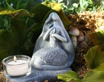 Gaia Goddess Sculpture, Goddess Figurine, Mother Earth Concrete Art