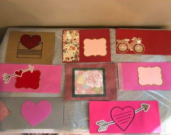 Happy mail Valentine's Day Envelopes bundle G