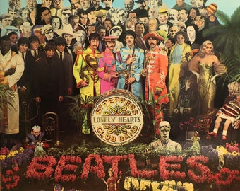 Early '73 The BEATLES Sgt Peppers Lonely Hearts Club Band Parlophone Records Imported British Vinyl Press w/ Laminated Gate Fold! 50 YEARS!!