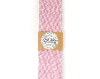 Wedding Mens Tie Skinny Necktie - Laid-Back necktie- pink wool