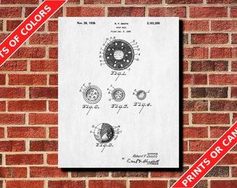 Golf Poster Golf Ball Patent Print Golfer Gift Golf Wall Art Golf Ball Blueprint