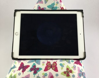 Tablet Cushion,BookCushion,iPad Cushion,Tablet Stand,E-Reader Stand,Butterfly iPad Cushion,Butterfly Tablet Stand,Button Moon Design