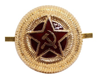Russian cockade General Armed Forces Soviet Union military badge pin for hat