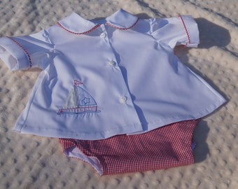 Handmade Diaper Set with embroidery