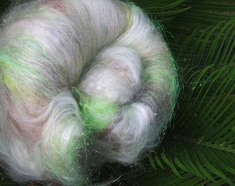 CONFESSIONS, 4.0 oz, fiber art batt for spinning, carded batt, bling batt, ngelina sparkle, felting fiber, art fiber, spinning fiber