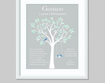 Godson Gift - Gift For Godson - Baptism Gift For Godchild - Baptism Keepsake - Christening Gift For Godson - Baby Boy Gift Christian Nursery