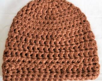 Brown women's crochet hat, women's crochet hat, women's hat