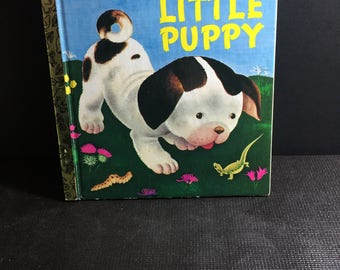 Vintage 1970 Little Golden Book - The Poky Little Puppy - Hardcover Children's Book - Rare Vintage