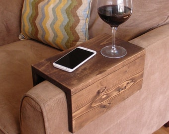 Simply Awesome Couch Sofa Arm Rest Wrap Tray Table (Extra Wide Widths)