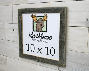 "10x10 Thin x 1.25"" Barn Wood Picture Frame"