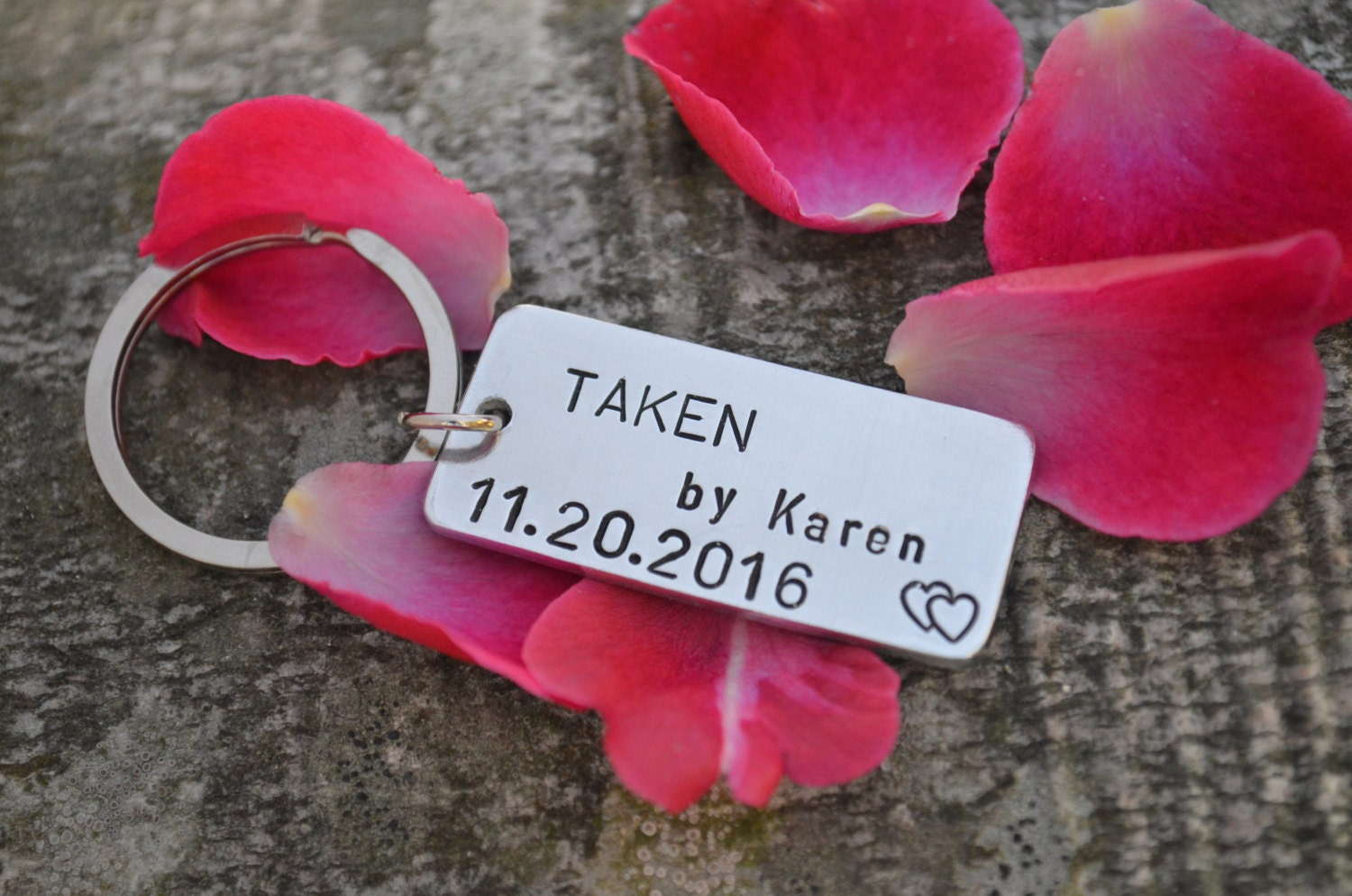 TAKEN Keychain, Mens personalized keychain, Anniversary gifts for men, Engagement Gift, Long Distance Relationship, Boyfriend girlfriend