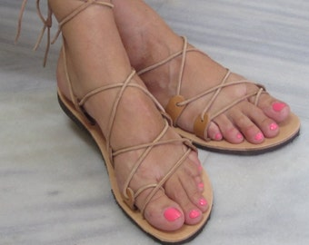 Lace up Gladiator Greek Leather Sandals
