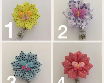 Butterfly ID holder, Retractable ID holder, Badge