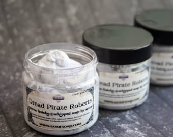 Soap for Men Dread Pirate 2 oz Mini Creme Fraiche Whipped Soap Trial Sample Size VEGAN