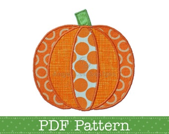 Pumpkin Applique Template. Jack O Lantern Applique Template. Halloween Applique Designs. DIY, PDF Patterns by Angel Lea Designs