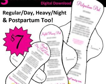 PDF Cloth Pad Pattern Pack