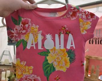 Aloha Pineapple Tropical Onesie