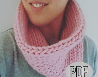 Super Smooth Snood Knitting Pattern, Beginner Knitting Patterns Snood, Easy Knit Snood Pattern, Instant Download Knitting Pattern, PDF
