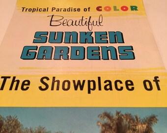 Sunken Gardens St Petersburg Vintage Brochure