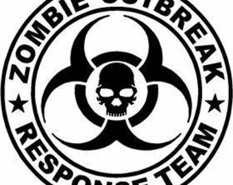 Zombie Outbreak Response Team Jeep Decal