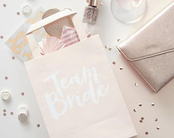 Team Bride Party Bags With Handles x 5