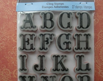 Recollections Alphabet Cling Stamps (Pretty Capital Letters)