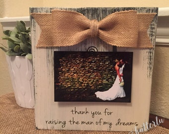 Mother Of The Groom Parents Of The Groom Wedding Thank You Gift For Mother Of The Groom Thank You For Raising The Man Of My Dreams