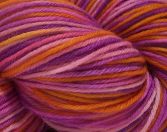Turkish Delight - Hand dyed Yarn by Twilight Knits Superwash Merino Fingering Weight Sock Hand painted
