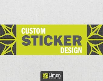 Custom Business Sticker Design, Graphic Design, Thank You Sticker, Custom Stickers, Wedding Stickers, Personalized Sticker, Custom Sticker